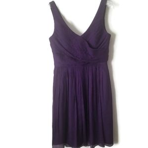 J. Crew dress silk purple sz 6